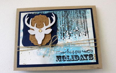 Wintry Happy Holidays Card