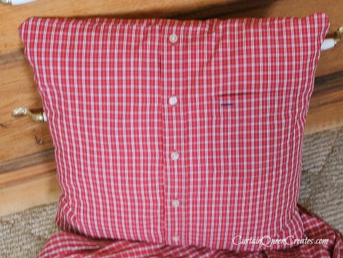 Plaid Shirt Christmas Pillows