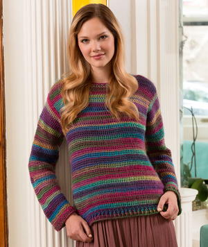 Colors of the Rainbow Crochet Sweater