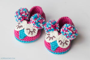 Owl Crochet Baby Booties