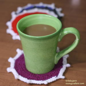 Knit Coasters in Color