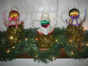 Colorful Christmas Angels