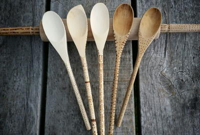 DIY Burned Wood Utensils