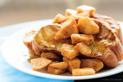 Apple Cinnamon French Toast with Cinnamon Syrup