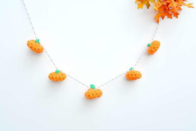 Little Crochet Pumpkin and Garland