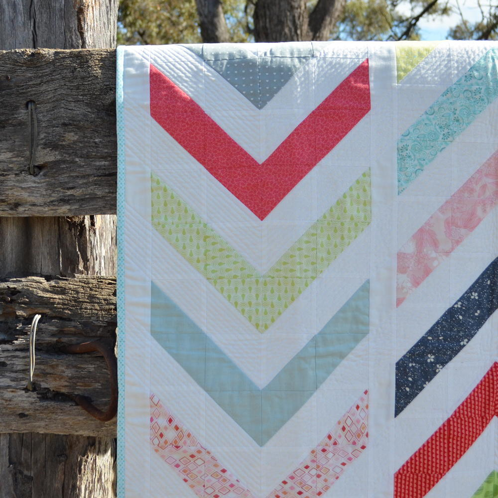 Lickety Modern Chevron Quilt Favequilts Com