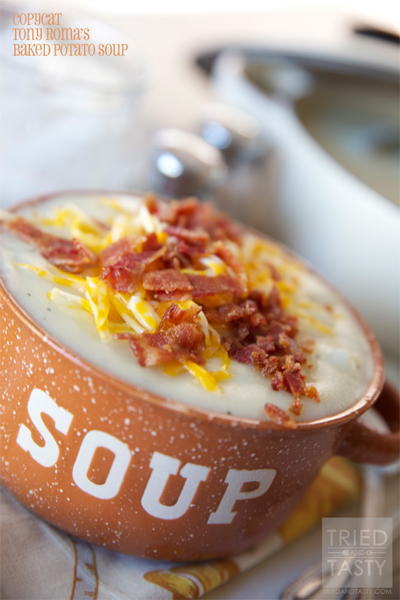 Homemade Tony Roma's Baked Potato Soup