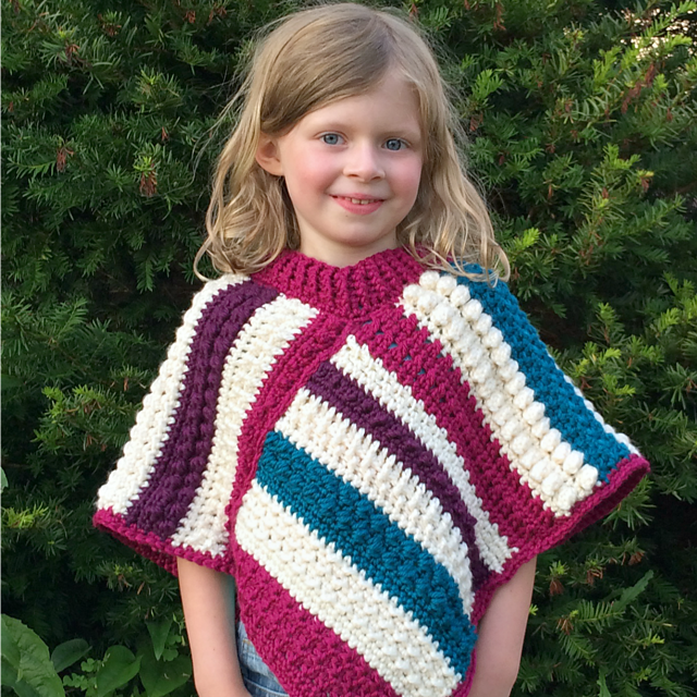 Www All Free Crochet Com : Fall Shades Crochet Poncho Pattern AllFreeCrochet.com