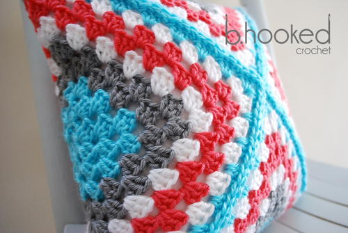 Retro Granny Square Pillow