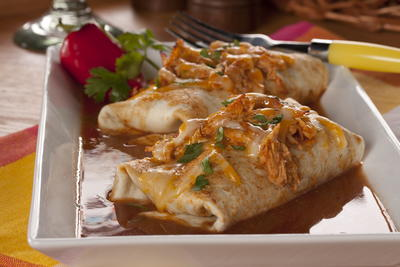 Slow Cooker Chicken Enchiladas