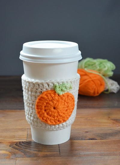 Crochet Pumpkin Cup Cozy