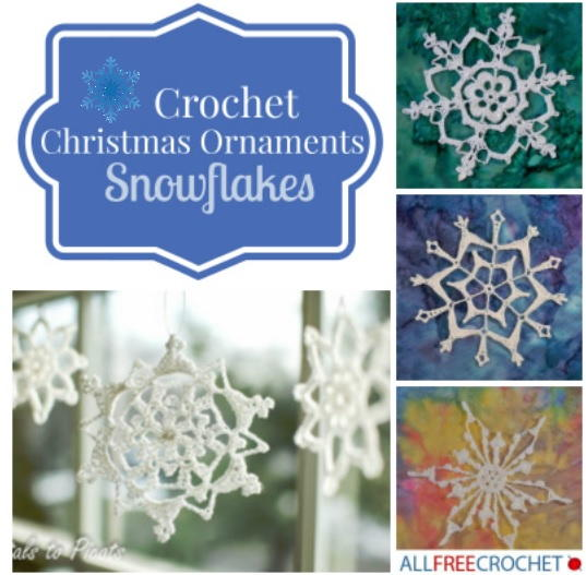 Crochet Snowflake Patterns For Beginners : 31 Crochet Christmas Ornaments: Snowflakes ...