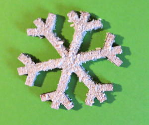 Duo of Snowflakes Christmas Card