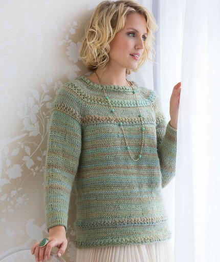 Tunisian Stitch Crochet Sweater