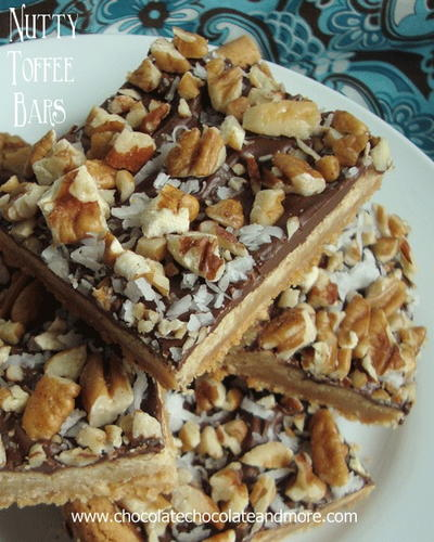 Super Simple Nutty Toffee Bars