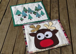 Upcycled Yuletide Mug Rugs