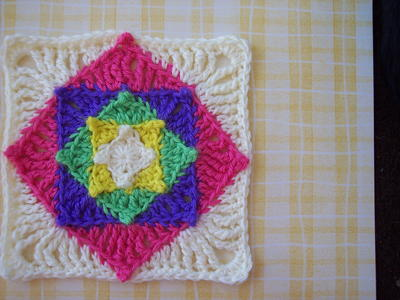Optical Illusion Granny Square Crochet Pattern