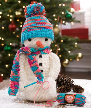 Crazy Cute Crocheting Snowman