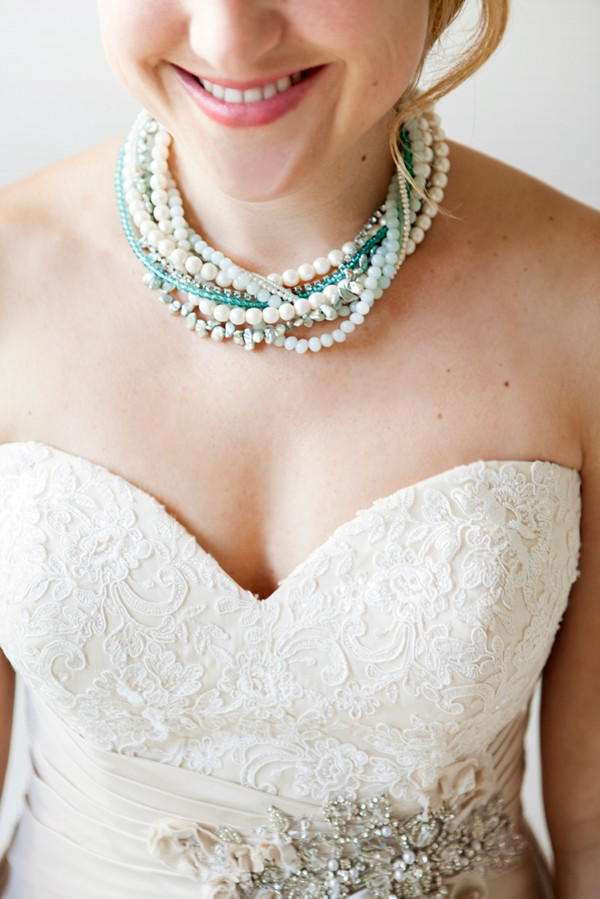 Something Blue Bridal Statement Necklace