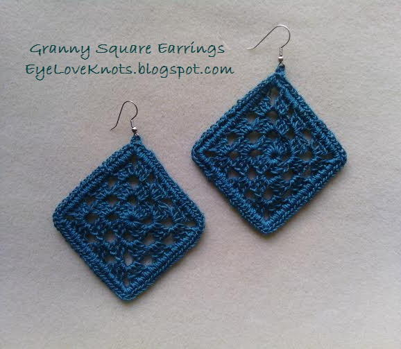 Framed Granny Square Earrings