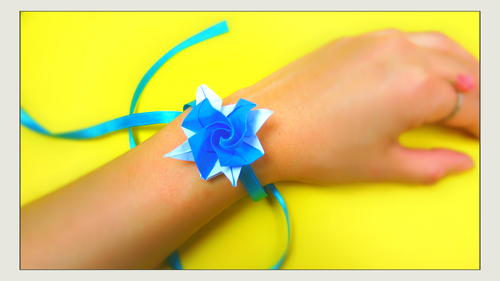 Origami Little Rose Bracelet