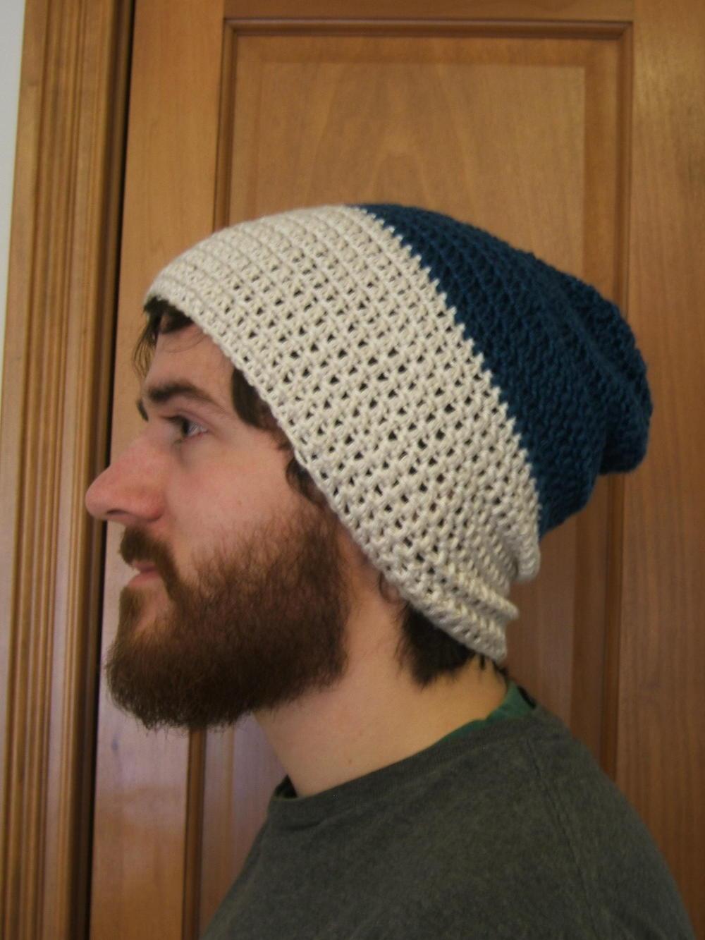 Mens Slouchy Beanie Knitting Pattern Free : Slouchy Hat Crochet Pattern AllFreeCrochet.com