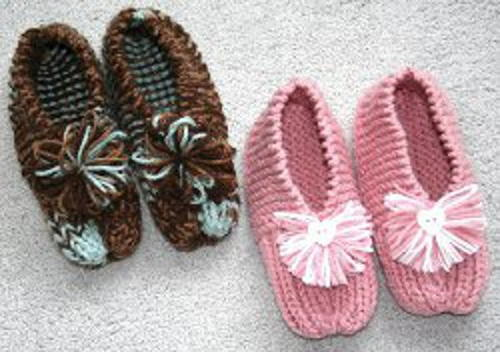 Knitted House Slippers Pattern : Grandmas Knitted Slippers Pattern FaveCrafts.com