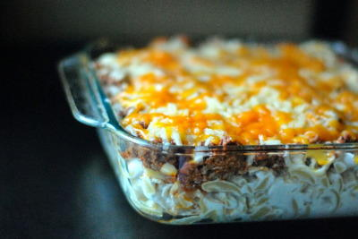 Savory Sour Cream Noodle Bake