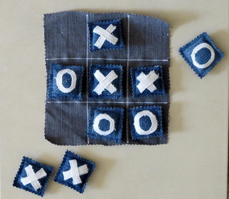 Upcycled Denim Tic Tac Toe Allfreesewing Com