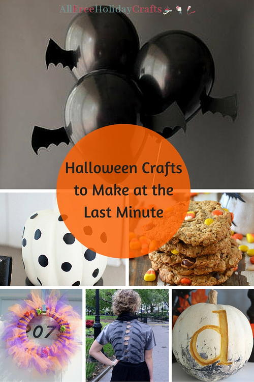 Halloween Crafts to Make at the Last Minute