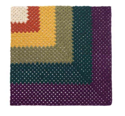 Cute and Colorful Granny Square Afghan