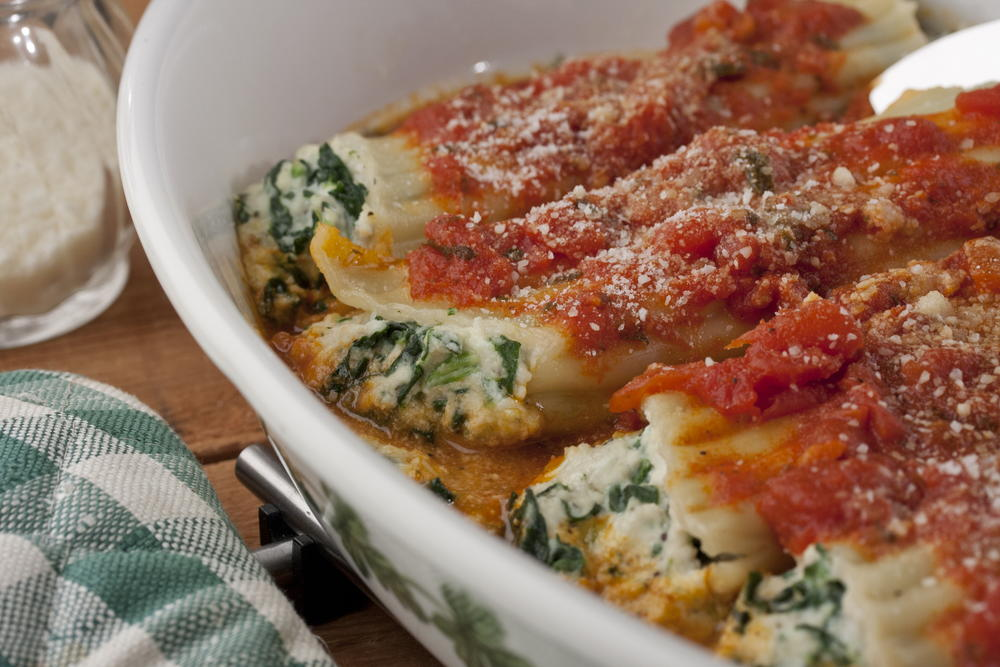 Spinach And Cheese Manicotti Mrfood Com