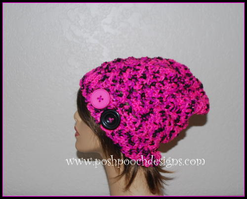 Pinky Crossover Slouch Hat