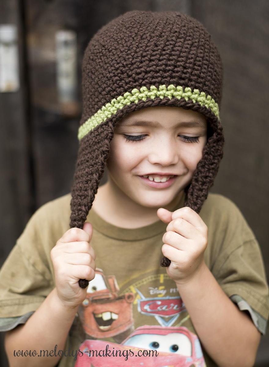 Chunky Earflap Hat Crochet Pattern Free : I-Cord Earflap Hat Crochet Pattern AllFreeCrochet.com