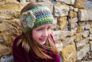One Hour Boho Chic Crochet Ear Warmer