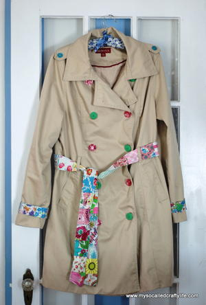 Upcycled Spring Trench Coat