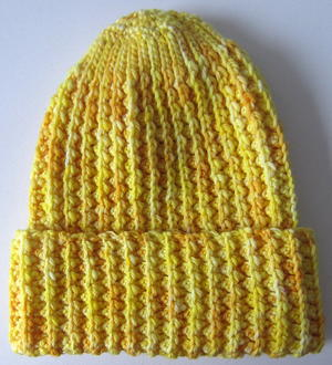 Faux Mistake Rib Easy Crochet Hat