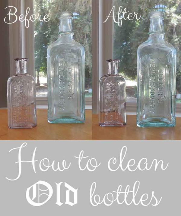 Clean Old Bottles
