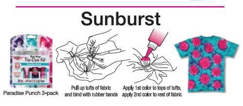 Sunburst Tie-Dye Technique from Tulip   FaveCrafts.com