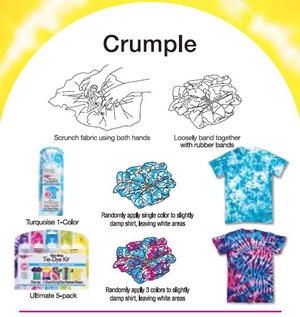 Crumple Tie Dye Technique