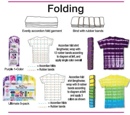 Folding tie dye technique from tulip - Technique tie and dye ...