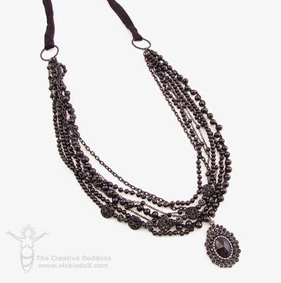 Black as Night Necklace