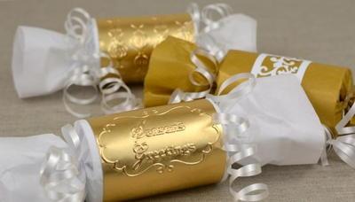 Embossed Golden Gift Wrap