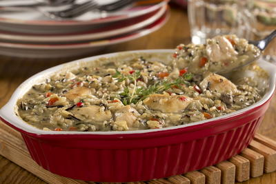 EDR Mushroom Chicken and Rice Bake
