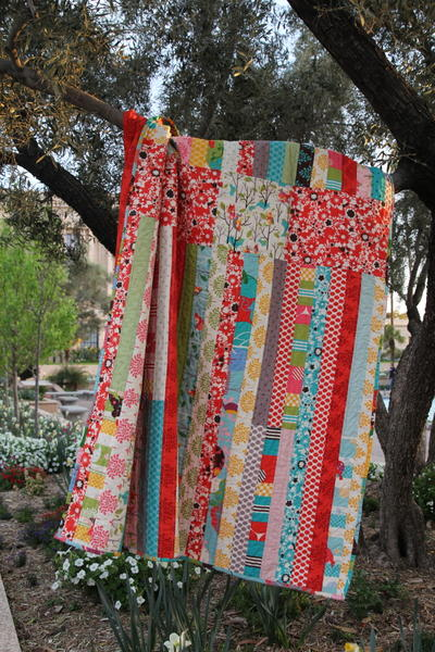 Cinched Jelly Roll Quilt