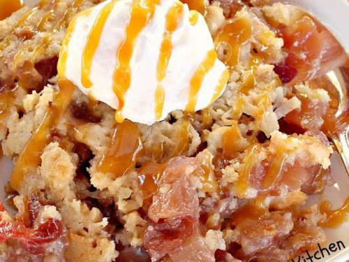 Apple Cranberry Dump Cake