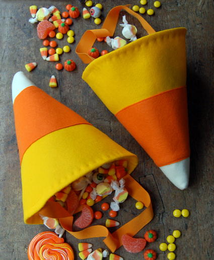 Candy Corn Trick or Treating Bag