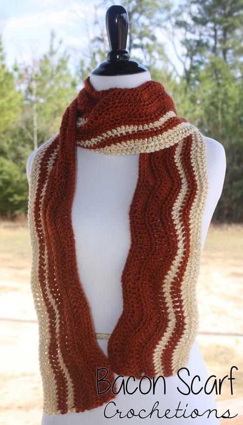 Bacon Crochet Scarf