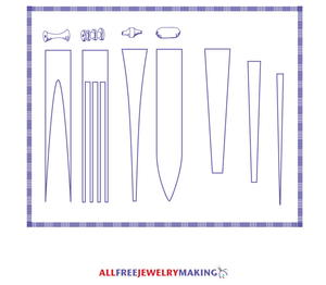 graphic regarding Printable Paper Bead Templates named Paper Bead Practice Printable