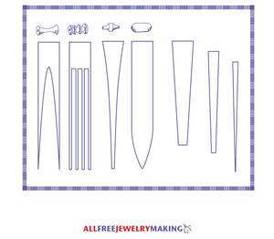 graphic regarding Printable Paper Bead Templates named Paper Bead Practice Printable